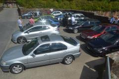 Honda Civics at Dawns memorial meet